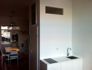 kitchenette en doorzicht