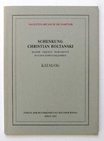 boltanski-schenkung Katalog cover