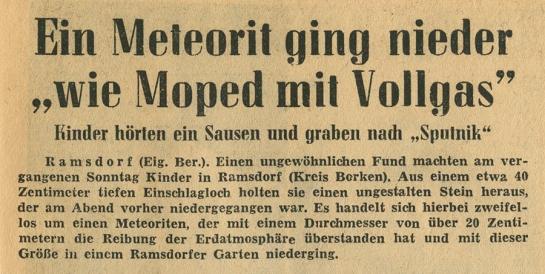 Münsterländer Zeitung, 29. July 1958