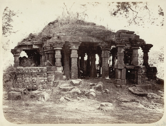 Temple ruins at Lonar, R. Gill 1865